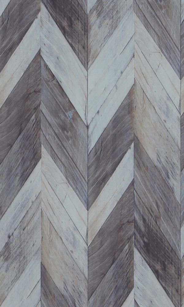 Modern Motifs Weathered Herringbone Wallpaper 217992