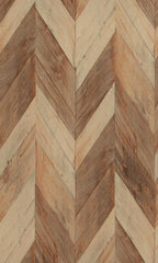 Modern Motifs Weathered Herringbone Wallpaper 217993