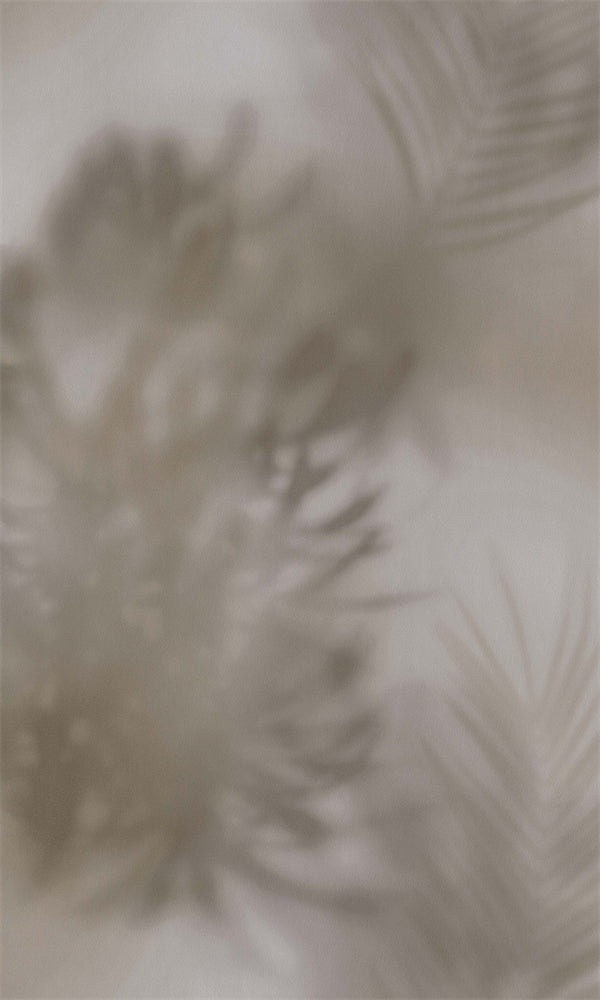 Dimensions Taupe Misty Needle Palm Leaves 219547