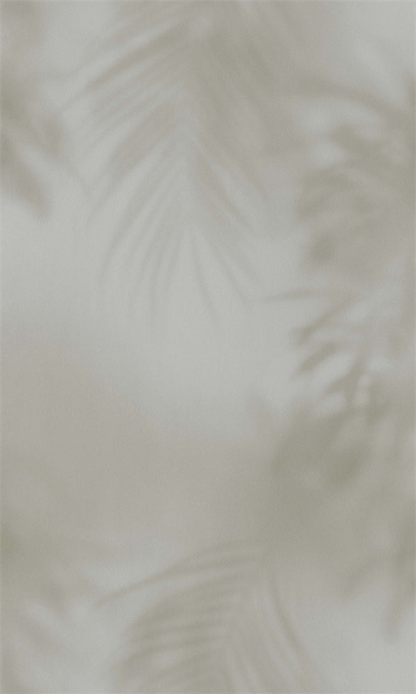 Dimensions Warm Grey Misty Needle Palm Leaves 219551