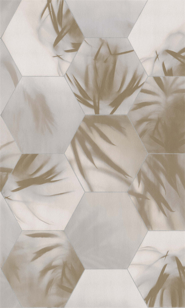 Dimensions Beige & Gold Tropical Tessellation 219572