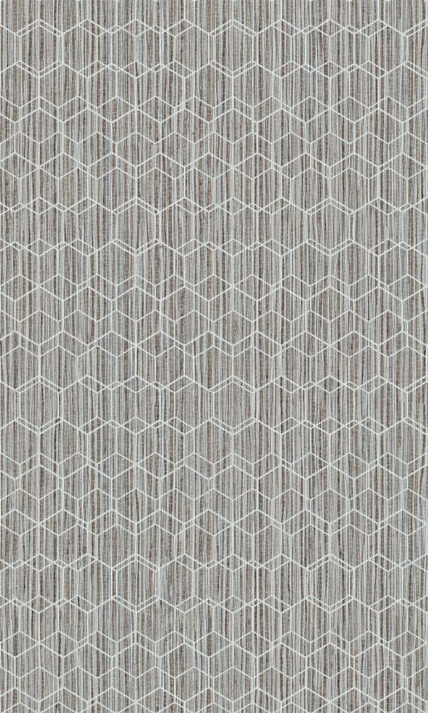 Dimensions Neutral & White Geometric Overlaid Faux Grasscloth 219620