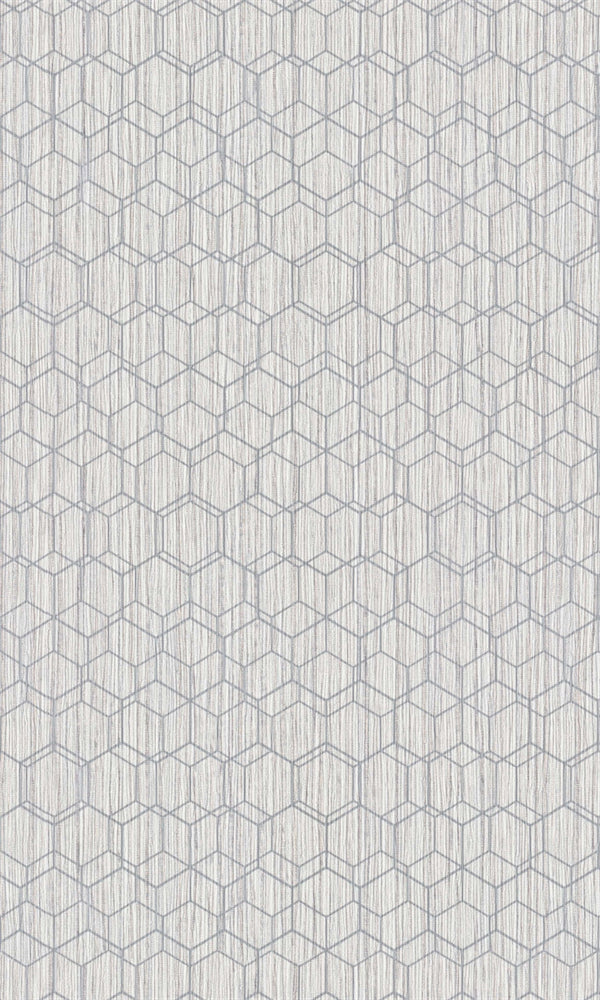 Dimensions Grey Geometric Overlaid Faux Grasscloth 219622