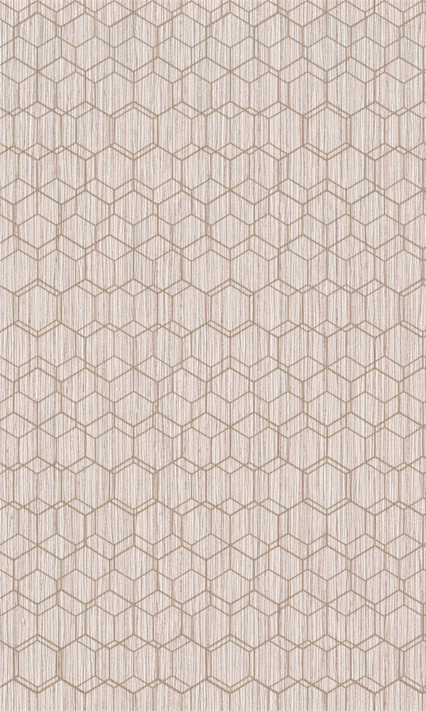 Dimensions Light Pink Geometric Overlaid Faux Grasscloth 219625