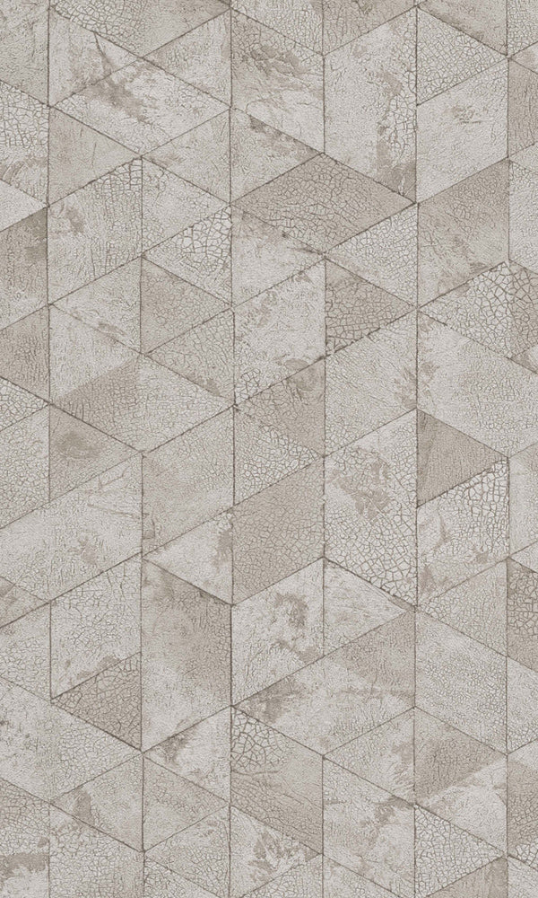 Material World Pale Brown Crackled Hexagons 219801