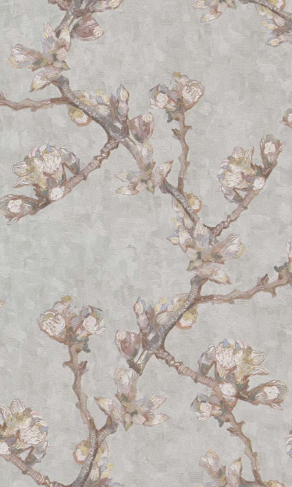 Van Gogh sprig of flowering almond wallpaper