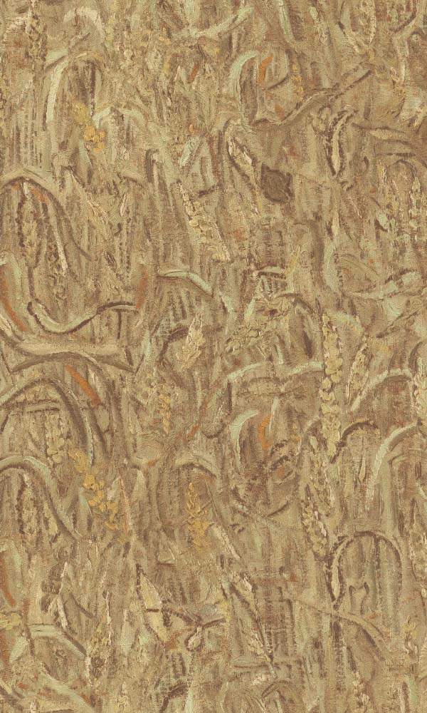 Van Gogh ears of wheat wallpaper