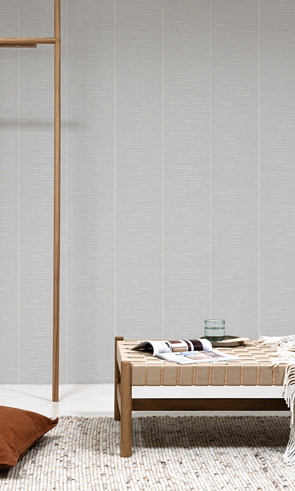 zen rustic bamboo stripe wallpaper
