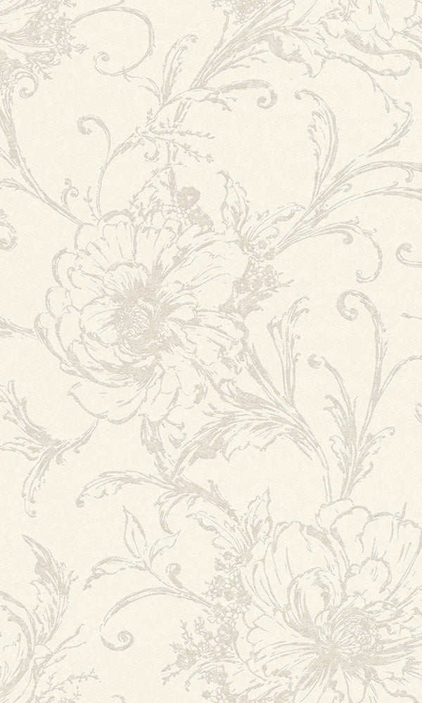 illustrated floral wallpaper