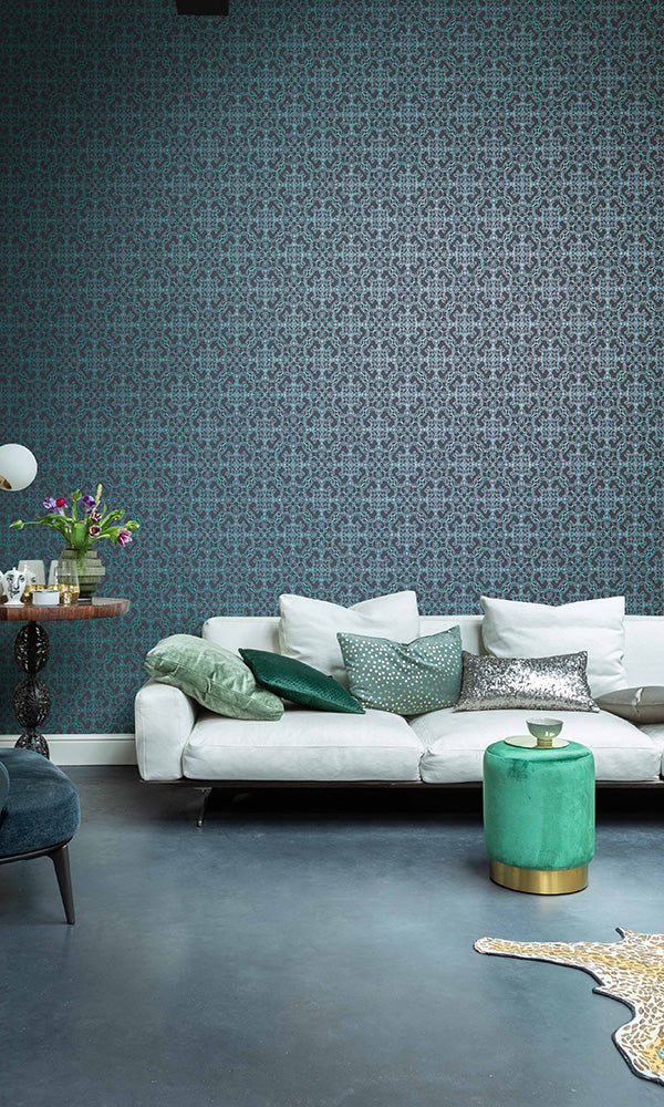whirling ornamental wallpaper