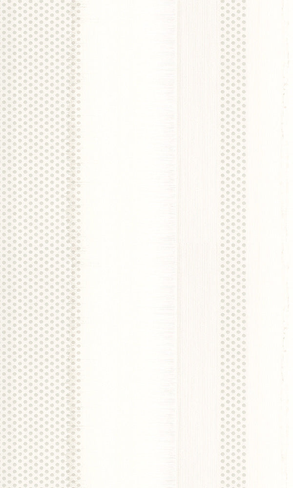 Casual White Eclectic Textured Stripe 30445