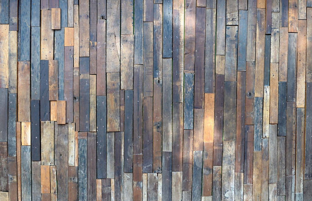 Structures Coloured Planks II Wallpaper 372259