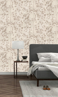 metallic floral bedroom wallpaper
