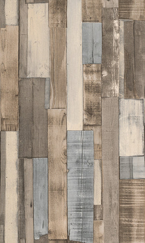 Modern Motifs 2.0 Brown Vertical Overlapping Wooden Planks 446753