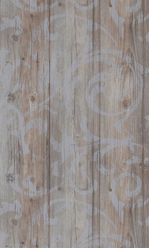 More Than Elements Stenciled Wood Wallpaper 49745