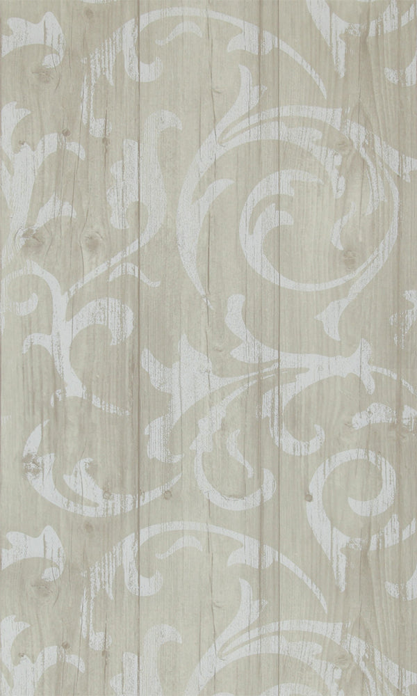 More Than Elements Stenciled Wood Wallpaper 49746