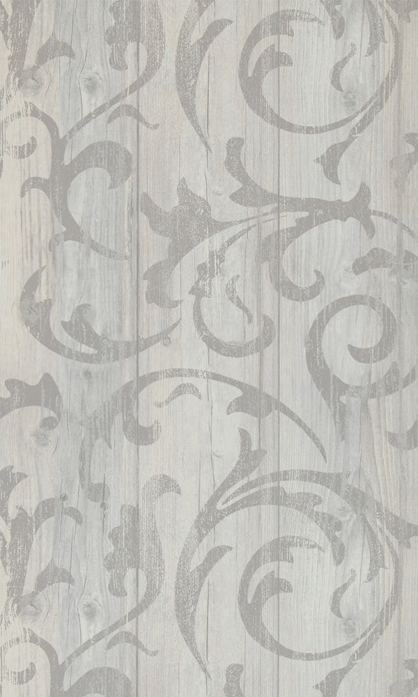 More Than Elements Stenciled Wood Wallpaper 49747