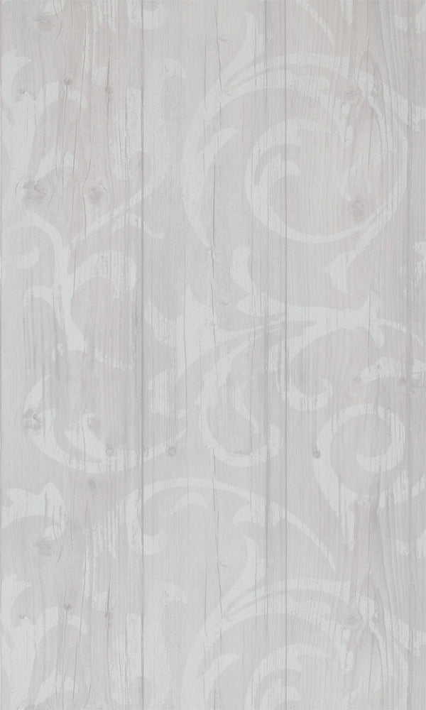 More Than Elements Stenciled Wood Wallpaper 49748