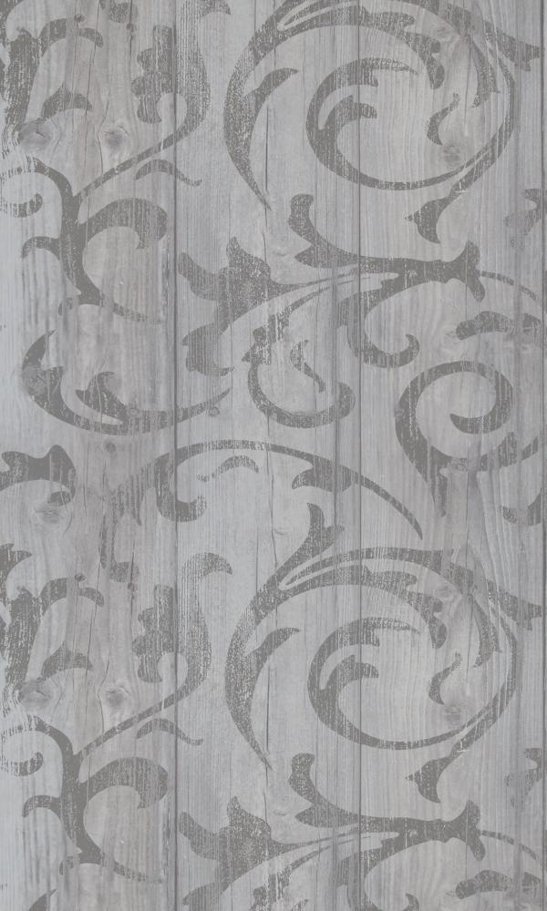 More Than Elements Stenciled Wood Wallpaper 49749