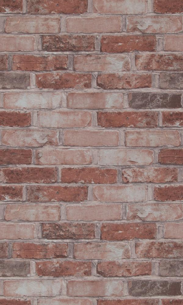 More Than Elements Running Bond Brick Wallpaper 49780