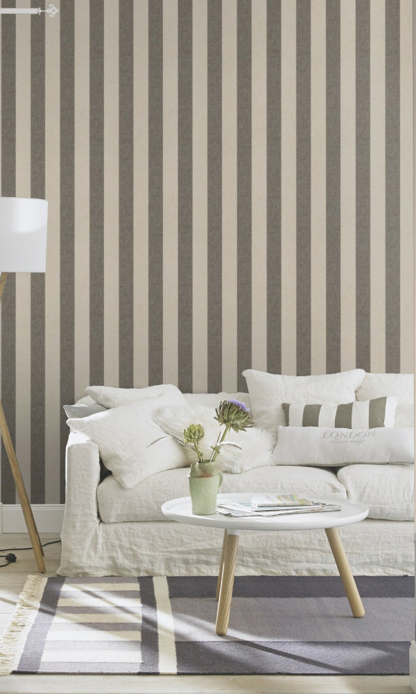 striped living room wallpaper