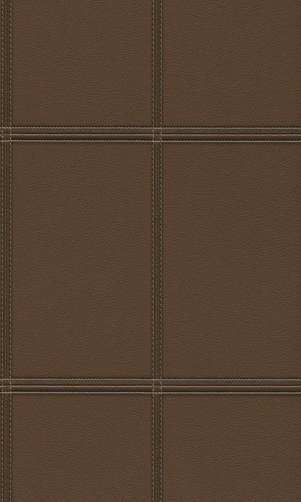 Cosmopolitan Stitched Leather Panels Wallpaper 576412