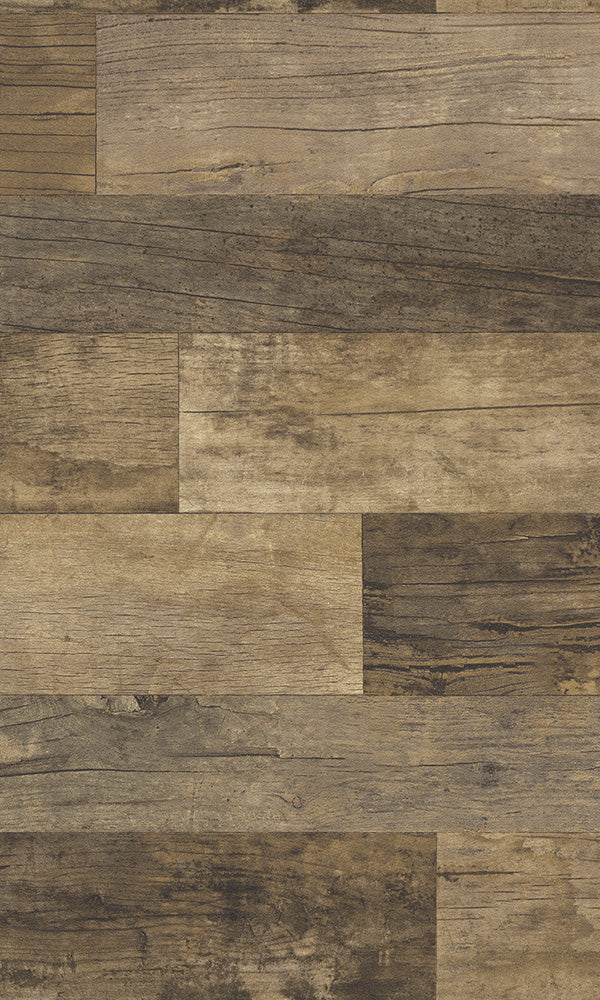 Modern Motifs 2.0 Brown Uneven Shiplap Planks 616477