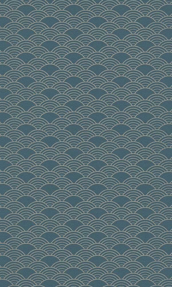 Modern Motifs 2.0 Blue Japanese Waves 621020