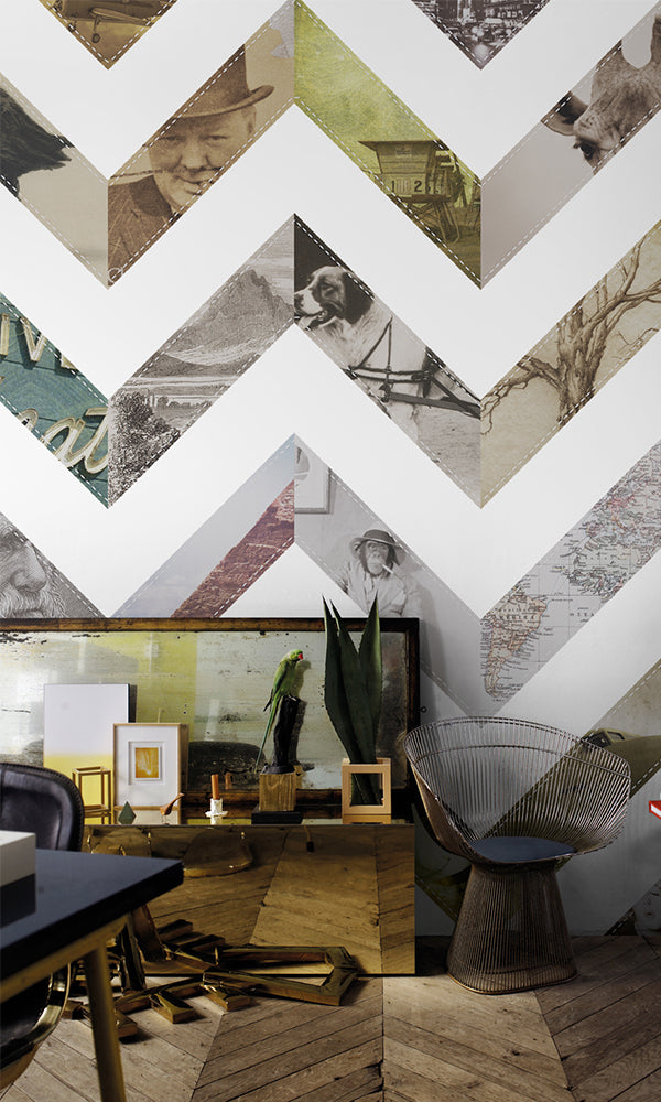 Windmill Avenue Vintage Zig Zag Wallpaper 6332019