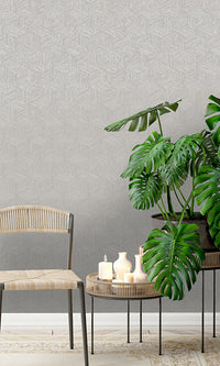 faux grasscloth geometric wallpaper