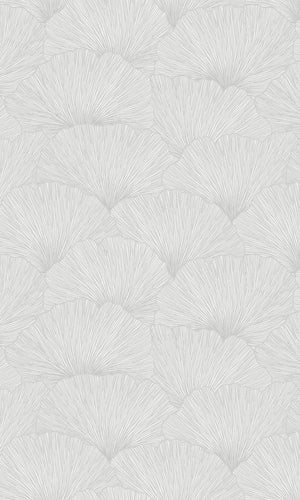 contemporary floral metallic wallpaper
