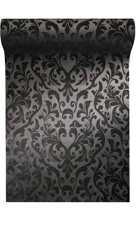 flocked damask wallpaper