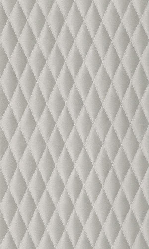Amelie Diamond Stitched Leather Wallpaper 861624