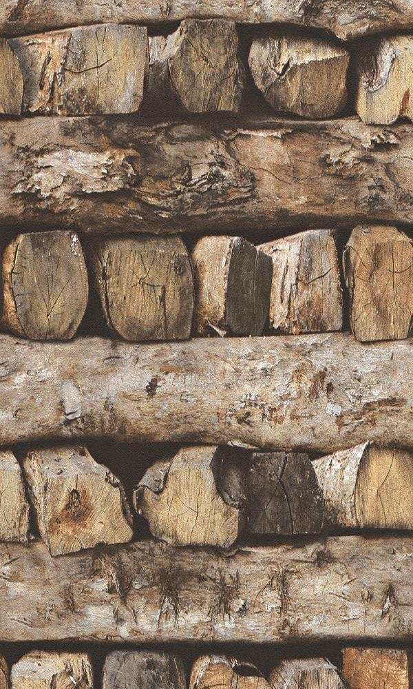 Modern Motifs Alternating Logs Wallpaper 931808