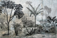 Illustrated Layered Lanscape Wallpaper Mural AZ016
