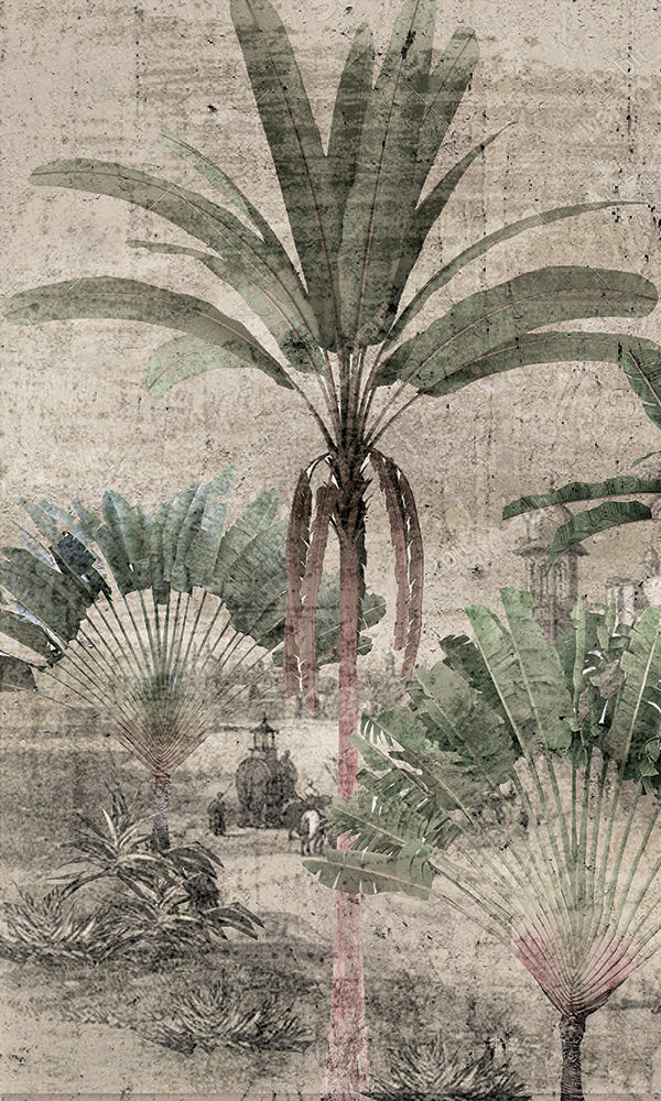 illustrated tropical wallpaper
