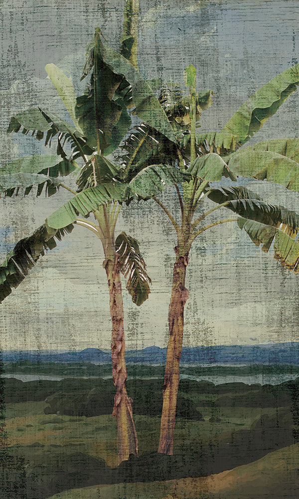 tropical oil painting wallpaper