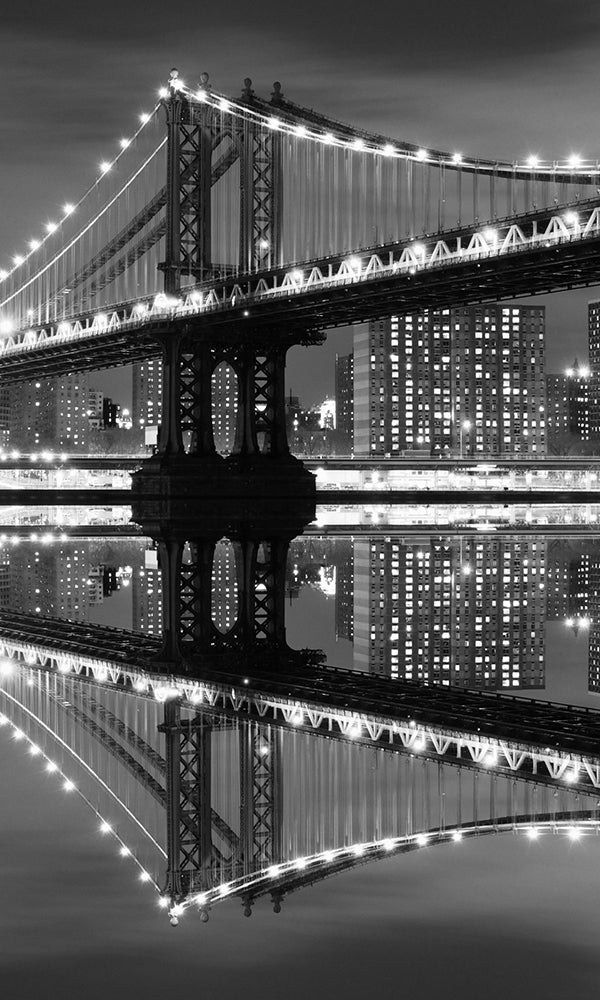 New York City At Night Black And White Wallpaper