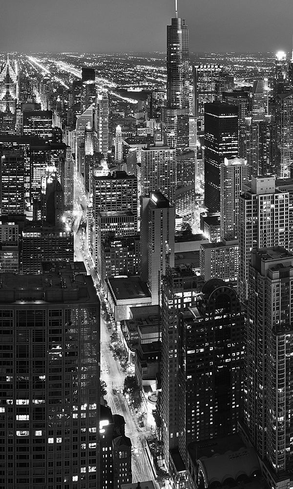 City Love Chicago At Night Wallpaper Cl44b Prime Walls Us