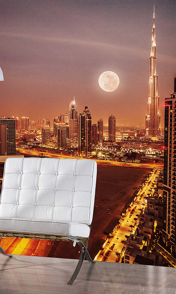 City Love Dubai At Night Wallpaper Cl60a