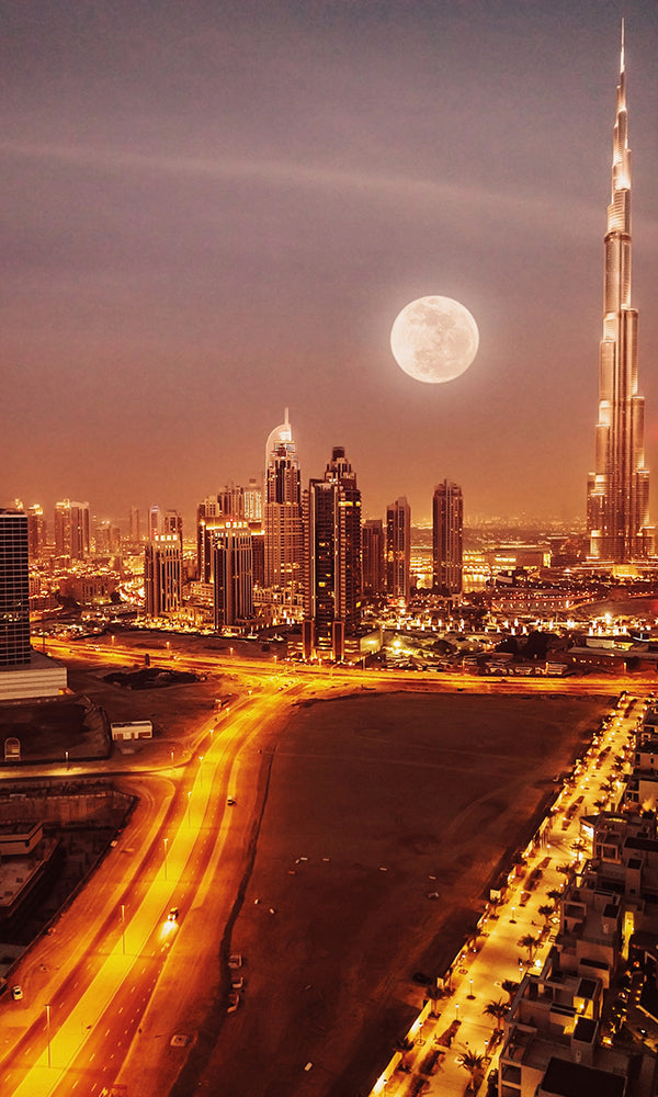 City Love Dubai At Night Wallpaper Cl60a Prime Walls Us