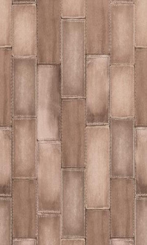 Amelie Patched Leather Wallpaper 475821