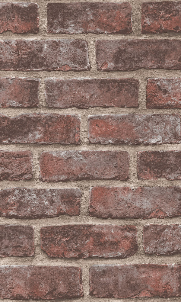 faux brick wall wallpaper