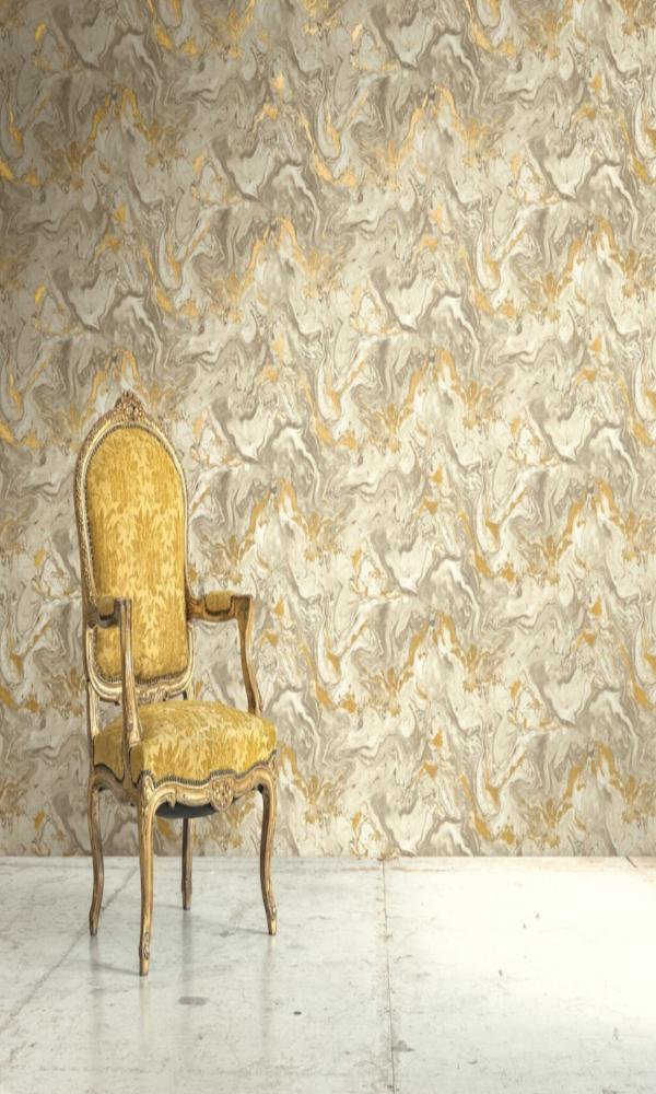 Precious Elements Marbled Sand Wallpaper NH30907