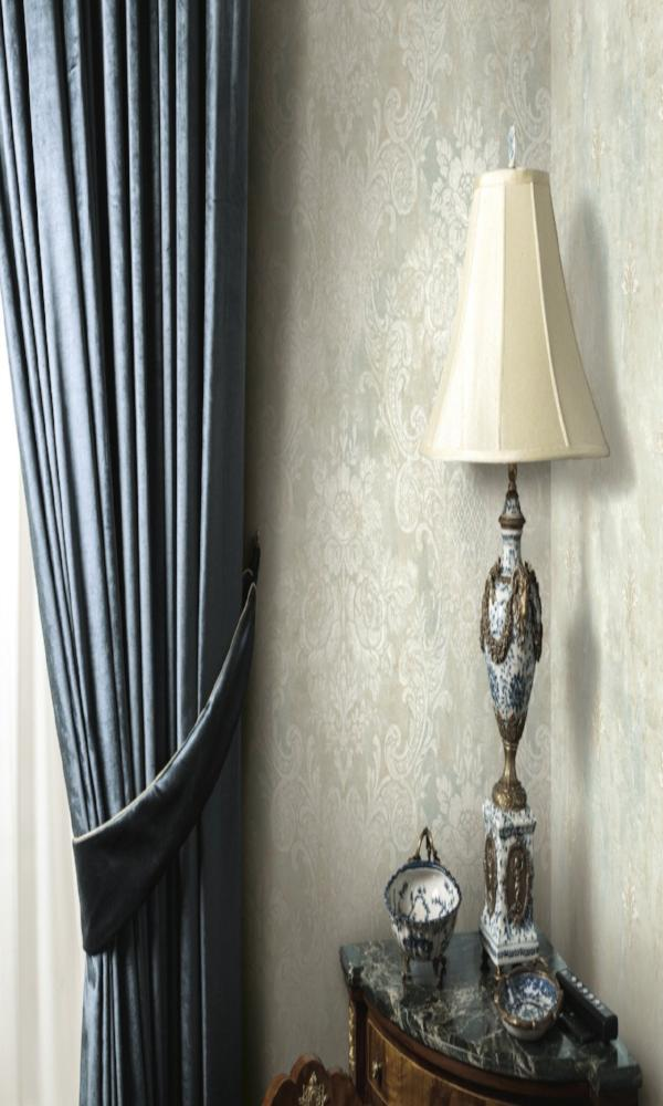 Brockhall Weathered Damask Wallpaper NH22002