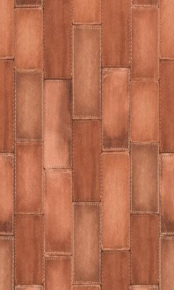 Amelie Patched Leather Wallpaper 475845