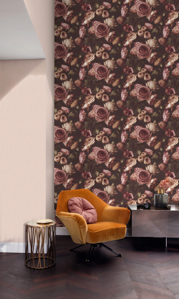 vintage floral living room wallpaper