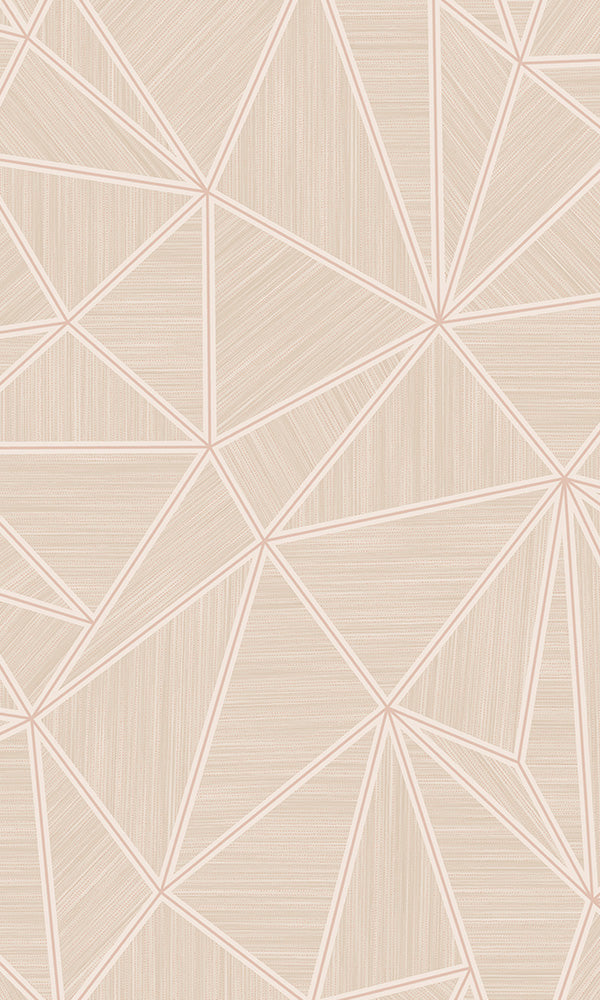 Blush Pink Shattered Triangles VG2003