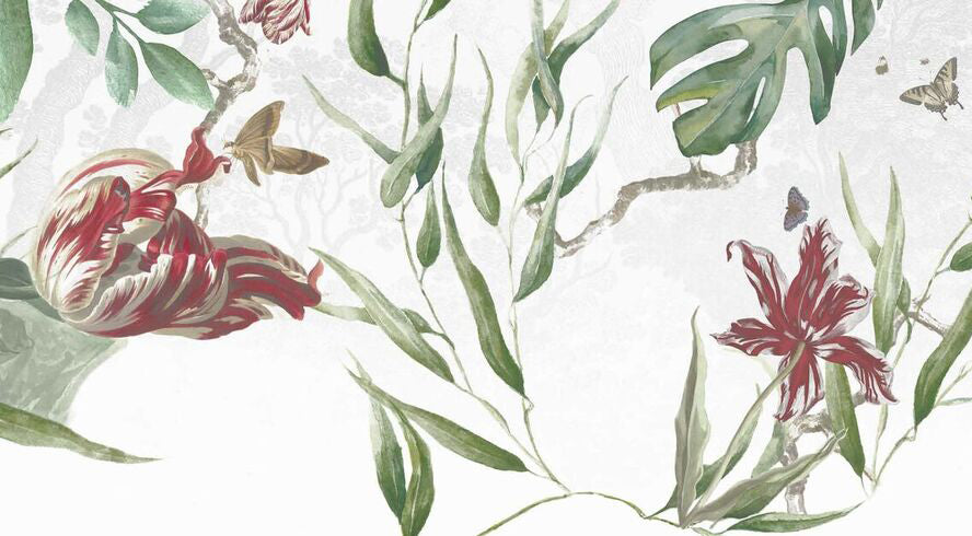Large Free-flowing Florals Wallpaper 14300-1
