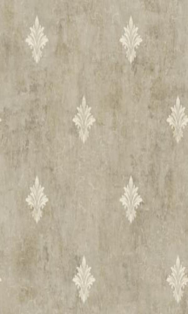 Brockhall Fleur De Lis Canvas Wallpaper NH22107
